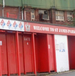 St James Park Old Granstand entrance. Thumbnail