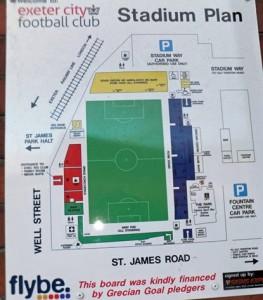 Stadium Plan, St James Park Exeter