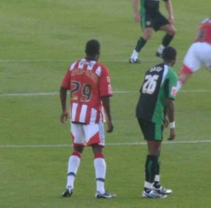 Troy Archibald-Henville playing for Exeter City (thumb)
