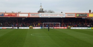 View of Bootham Crescent for away fans