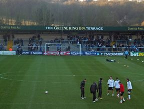 view from the away end,Adams Park,  Wycombe