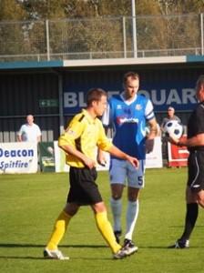 Steve Basham in action for Oxford City