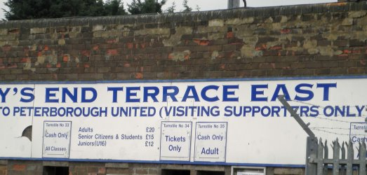 Peterborough Away End Entrance