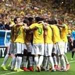 brazil team celebrate a goal