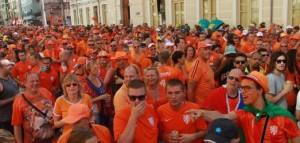 Dutch fans at the World Cup