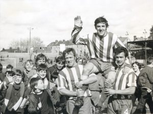 Alan Banks - after scoring 100th goal-web