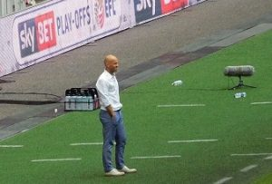 Paul Tisdale at Wembley