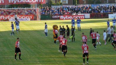 Exeter versus Ipswich Town in August 2010