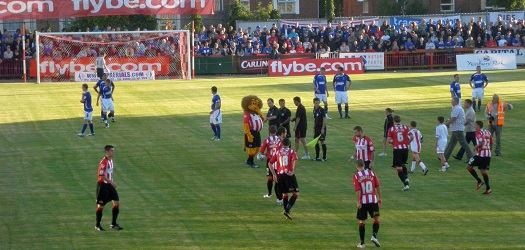 Exeter versus Ipswich Town in August 2010