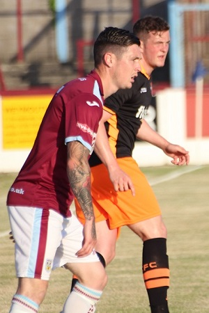 Pierce Sweeney in action at Weymouth in a 2016 friendly